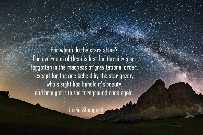 Poem by Gloria Sheppard
