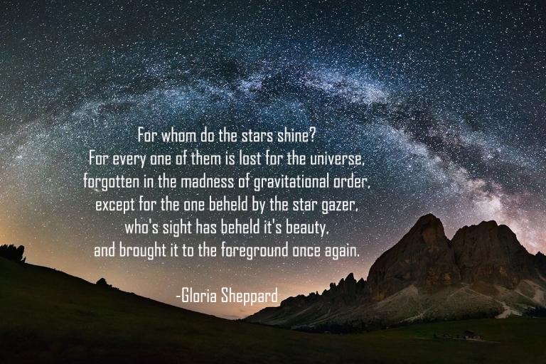 Poem by Gloria Sheppard