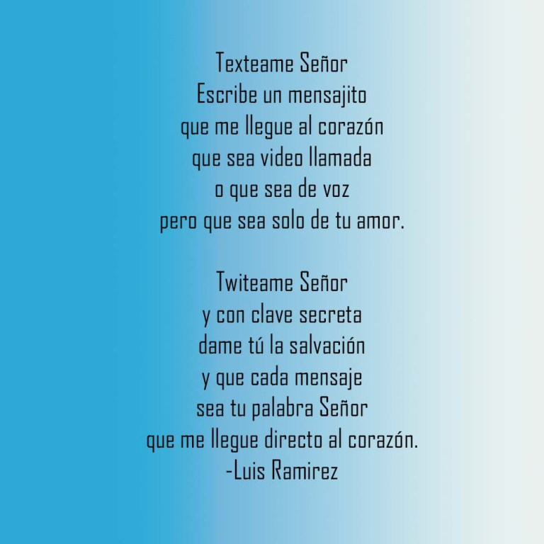 Poem by Luis Ramirez